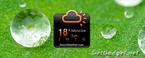 gadzhet pogody dlja Windows 7