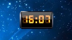 Dark Digital Clock