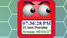 Rolling Eyes Clock