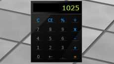 Glossy Calculator