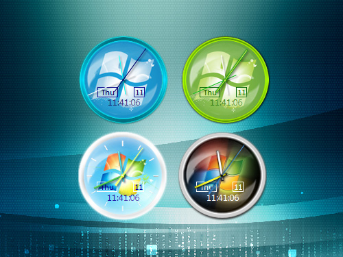 Windows-7-Editions-RTM-Cloc