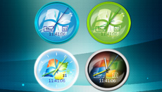 Windows 7 Editions RTM Clock