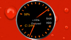 Firespeed Ram Hdd Gauge