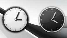 Black And White Elegant Clock