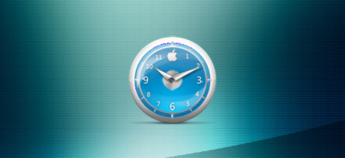 Apple-Clock-Blue-Classic