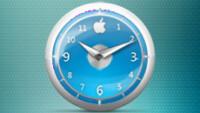 Apple Clock Blue Classic