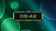 Space-Clock-Green