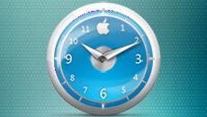 Apple-Clock-Blue-Classic